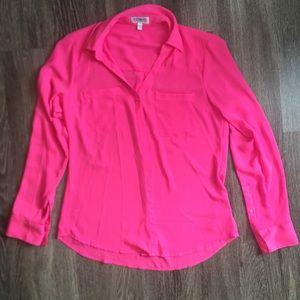 Express button up Pink Dress shirt